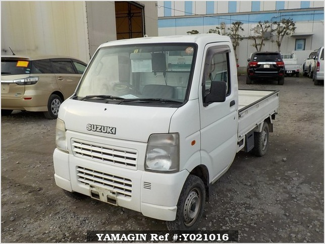 It is a picture of the white suzuki carry truck in 2007,Sub Photo 1 Stock No.Y021016