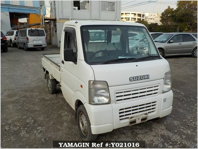 It is a picture of the white suzuki carry truck in 2007,Sub Photo 0 Stock No.Y021016