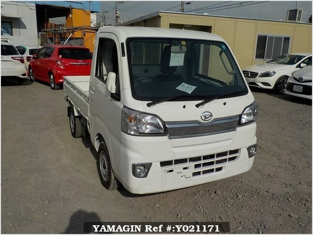 It is a picture of the white daihatsu hijet  truck in 2018,Sub Photo 0 Stock No.Y021171