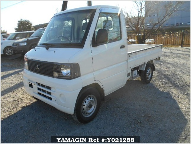 It is a picture of the white mitsubishi minicab truck in 2001,Sub Photo 1 Stock No.Y021258