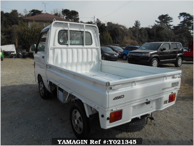 It is a picture of the white daihatsu hijet truck in 1997,Sub Photo 3 Stock No.Y021345