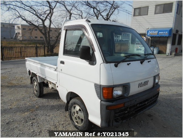 It is a picture of the white daihatsu hijet truck in 1997,Sub Photo 0 Stock No.Y021345