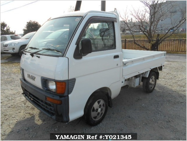It is a picture of the white daihatsu hijet truck in 1997,Sub Photo 1 Stock No.Y021345
