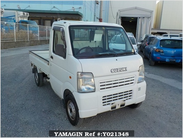It is a picture of the white suzuki carry truck in 2006,Sub Photo 0 Stock No.Y021348