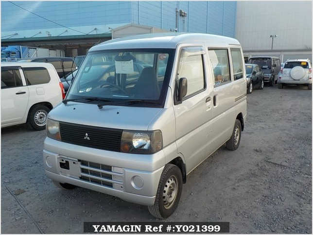 It is a picture of the silver mitsubishi minicab passenger van in 2002,Sub Photo 1 Stock No.Y021399