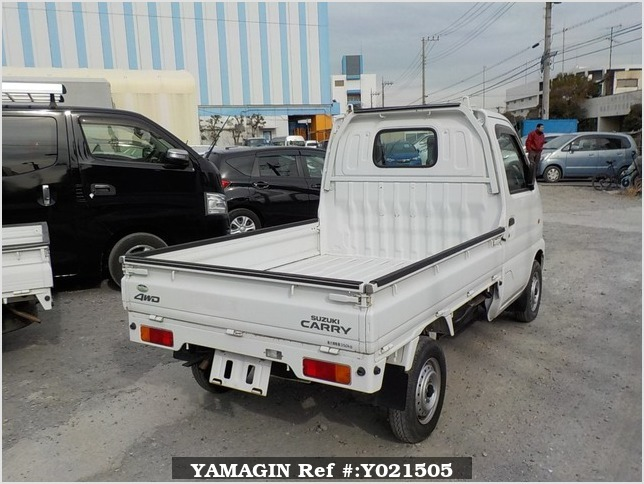 It is a picture of the white suzuki carry truck in 2001,Sub Photo 2 Stock No.Y021505