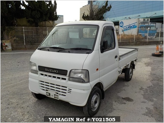 It is a picture of the white suzuki carry truck in 2001,Sub Photo 1 Stock No.Y021505
