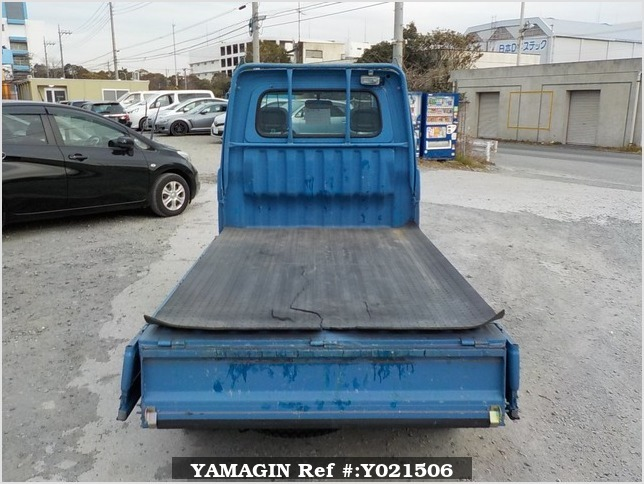 It is a picture of the blue daihatsu hijet truck in 1997,Sub Photo 4 Stock No.Y021506