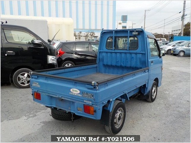 It is a picture of the blue daihatsu hijet truck in 1997,Sub Photo 2 Stock No.Y021506