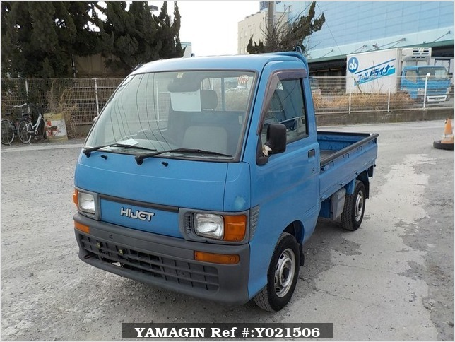 It is a picture of the blue daihatsu hijet truck in 1997,Sub Photo 1 Stock No.Y021506