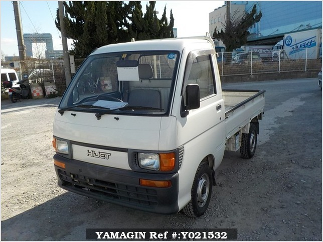It is a picture of the white daihatsu hijet truck in 1994,Sub Photo 1 Stock No.Y021532