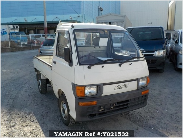 It is a picture of the white daihatsu hijet truck in 1994,Sub Photo 0 Stock No.Y021532