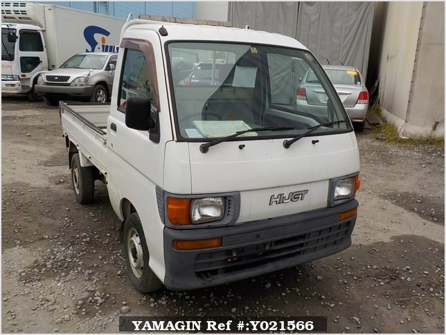 It is a picture of the white daihatsu hijet  truck in 1997,Sub Photo 0 Stock No.Y021566