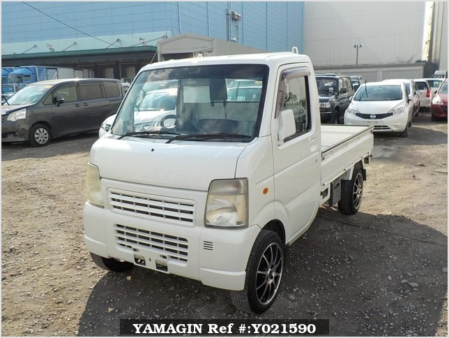 It is a picture of the pearl suzuki carry truck in 2006,Sub Photo 1 Stock No.Y021590