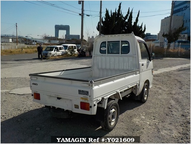 It is a picture of the white daihatsu hijet  truck in 1998,Sub Photo 2 Stock No.Y021609