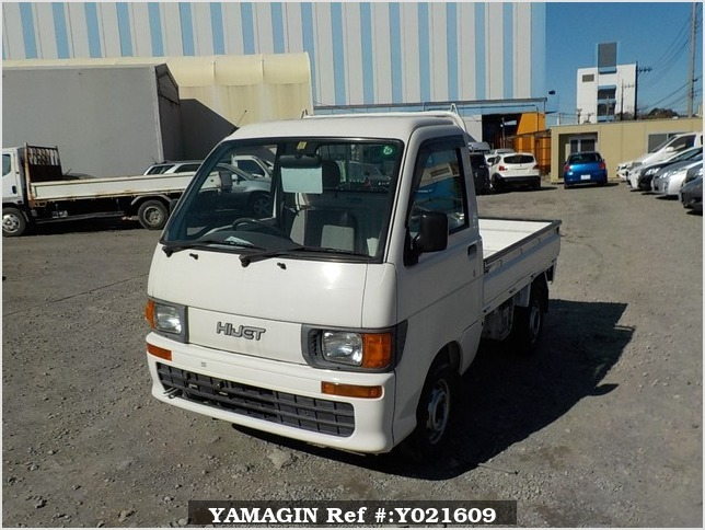 It is a picture of the white daihatsu hijet  truck in 1998,Sub Photo 1 Stock No.Y021609