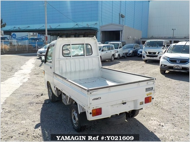 It is a picture of the white daihatsu hijet  truck in 1998,Sub Photo 3 Stock No.Y021609