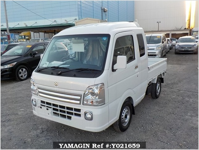 It is a picture of the white suzuki carry jumbo in 2018,Sub Photo 1 Stock No.Y021659
