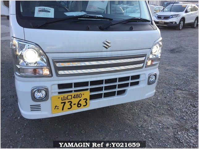 It is a picture of the white suzuki carry jumbo in 2018,Sub Photo 12 Stock No.Y021659
