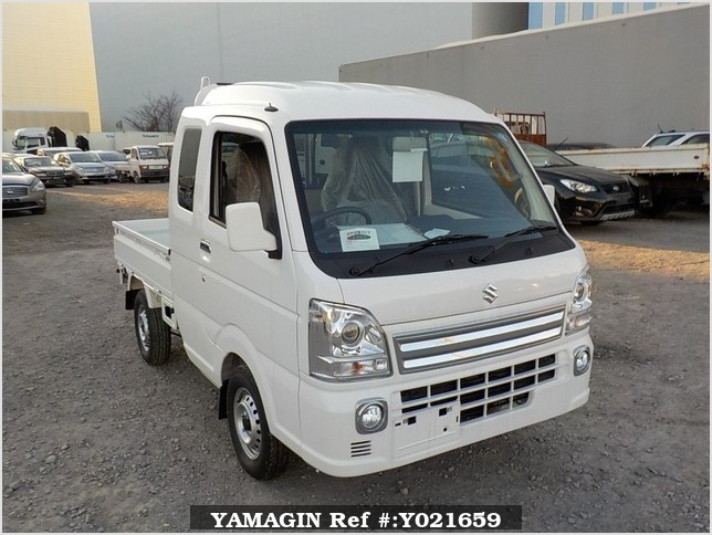 It is a picture of the white suzuki carry jumbo in 2018,Sub Photo 0 Stock No.Y021659