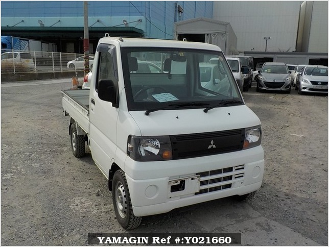 It is a picture of the white mitsubishi minicab truck in 2009,Sub Photo 0 Stock No.Y021660