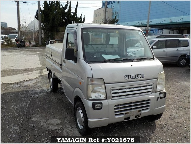It is a picture of the silver suzuki carry truck in 2008,Sub Photo 0 Stock No.Y021676