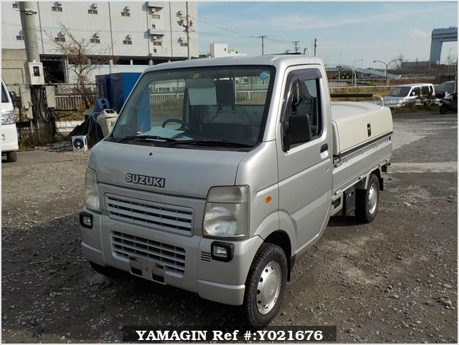 It is a picture of the silver suzuki carry truck in 2008,Sub Photo 1 Stock No.Y021676