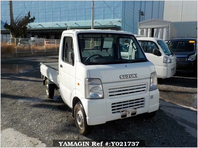 It is a picture of the white suzuki carry  truck in 2003,Sub Photo 0 Stock No.Y021737