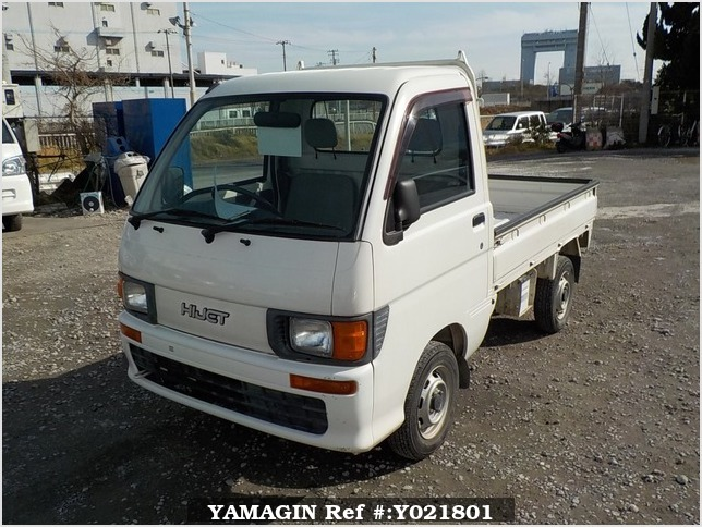 It is a picture of the white daihatsu hijet truck in 1998,Sub Photo 1 Stock No.Y021801