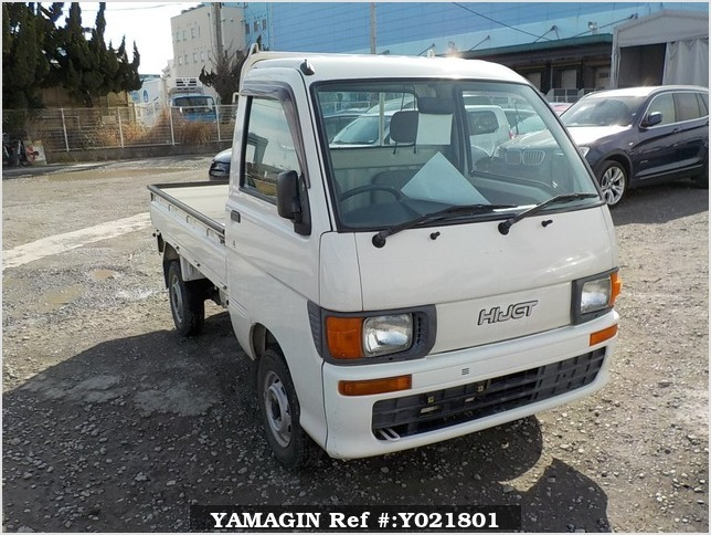 It is a picture of the white daihatsu hijet truck in 1998,Sub Photo 0 Stock No.Y021801