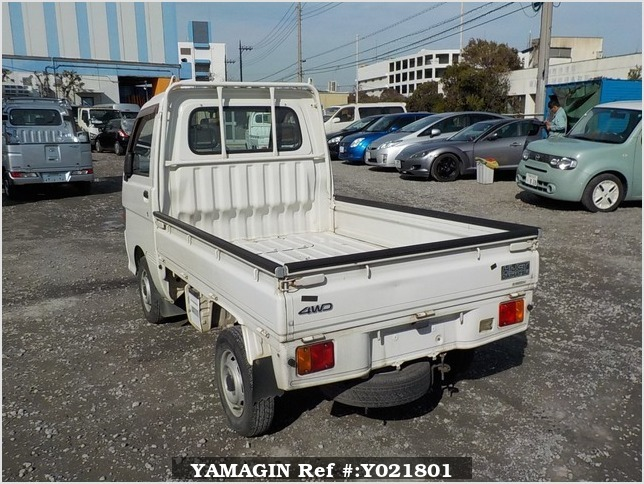 It is a picture of the white daihatsu hijet truck in 1998,Sub Photo 3 Stock No.Y021801