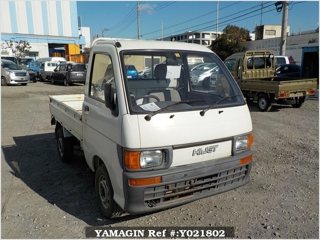 It is a picture of the white daihatsu hijet  truck in 1994,Sub Photo 0 Stock No.Y021802