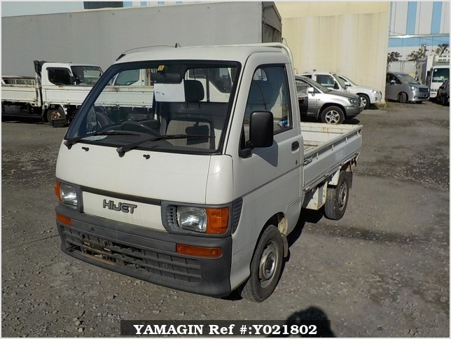 It is a picture of the white daihatsu hijet  truck in 1994,Sub Photo 1 Stock No.Y021802