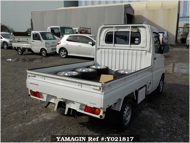 It is a picture of the white mitsubishi minicab truck in 2007,Sub Photo 2 Stock No.Y021817