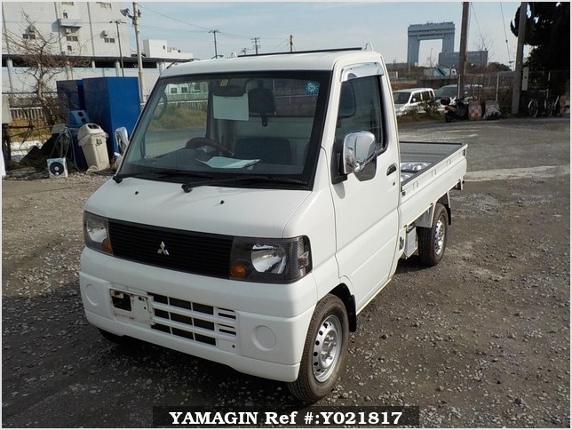 It is a picture of the white mitsubishi minicab truck in 2007,Sub Photo 1 Stock No.Y021817
