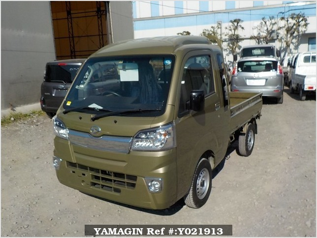 It is a picture of the khaki daihatsu hijet jumbo in 2018,Sub Photo 1 Stock No.Y021913