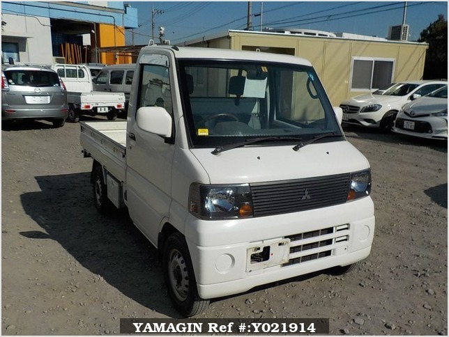 It is a picture of the white mitsubishi minicab truck in 2004,Sub Photo 0 Stock No.Y021914