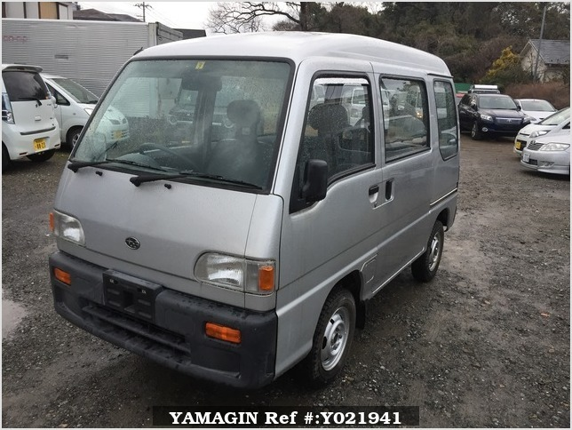 It is a picture of the silver subaru sambar passenger van in 1994,Sub Photo 1 Stock No.Y021941