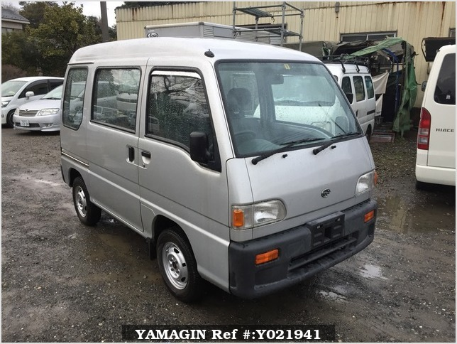 It is a picture of the silver subaru sambar passenger van in 1994,Sub Photo 0 Stock No.Y021941