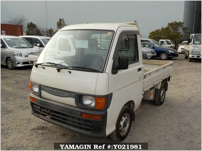 It is a picture of the white daihatsu hijet truck in 1997,Sub Photo 1 Stock No.Y021981