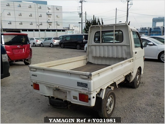 It is a picture of the white daihatsu hijet truck in 1997,Sub Photo 2 Stock No.Y021981