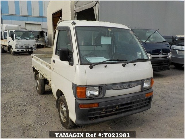 It is a picture of the white daihatsu hijet truck in 1997,Sub Photo 0 Stock No.Y021981
