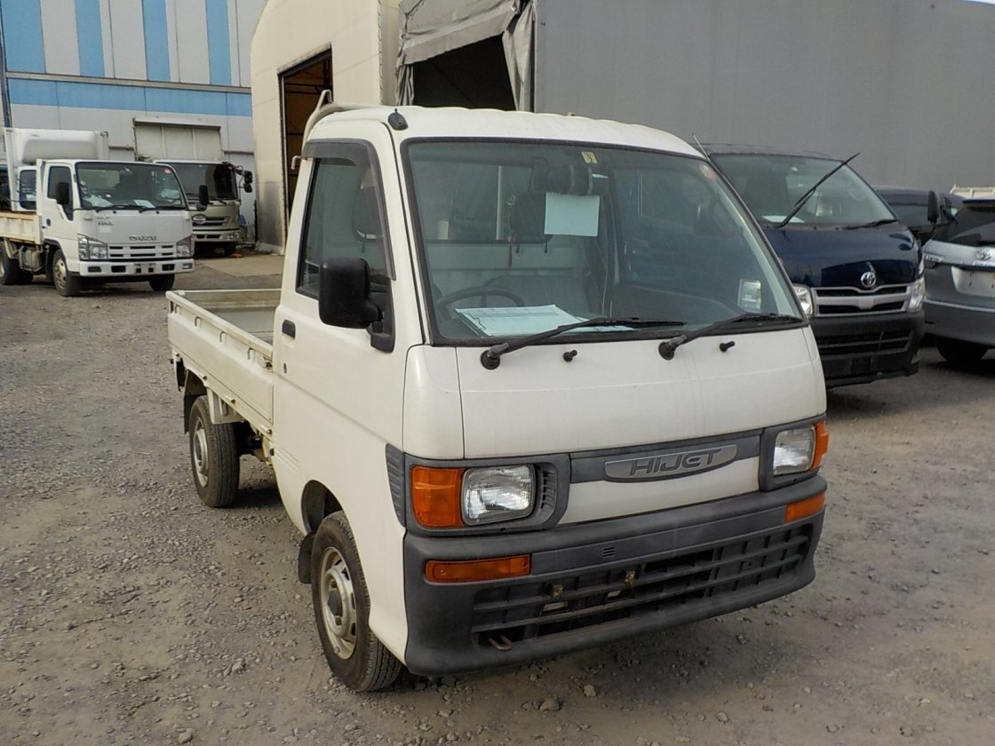 It is a picture of the white daihatsu hijet truck in 1997,First Photo Stock No.Y021981