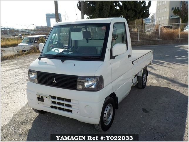 It is a picture of the white mitsubishi minicab truck in 2001,Sub Photo 1 Stock No.Y022033