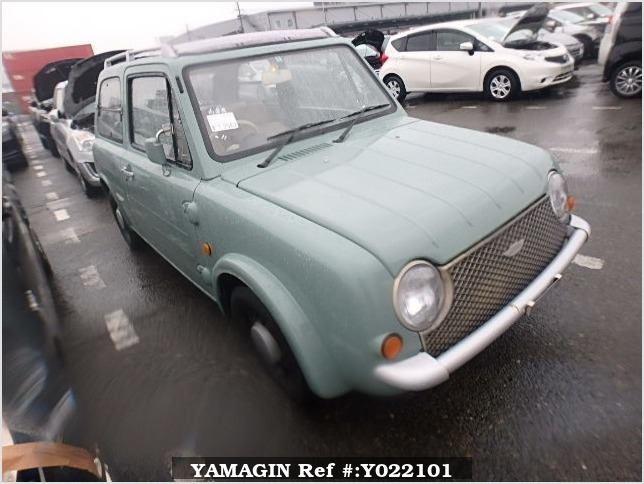 It is a picture of the olive nissan pao open top in 1989,Sub Photo 0 Stock No.Y022101