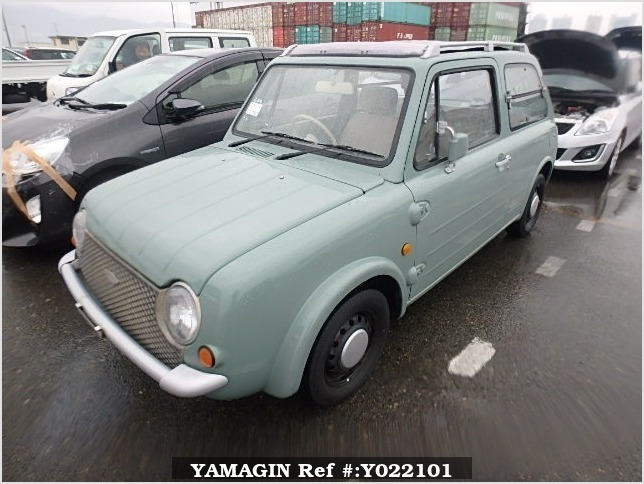 It is a picture of the olive nissan pao open top in 1989,Sub Photo 1 Stock No.Y022101