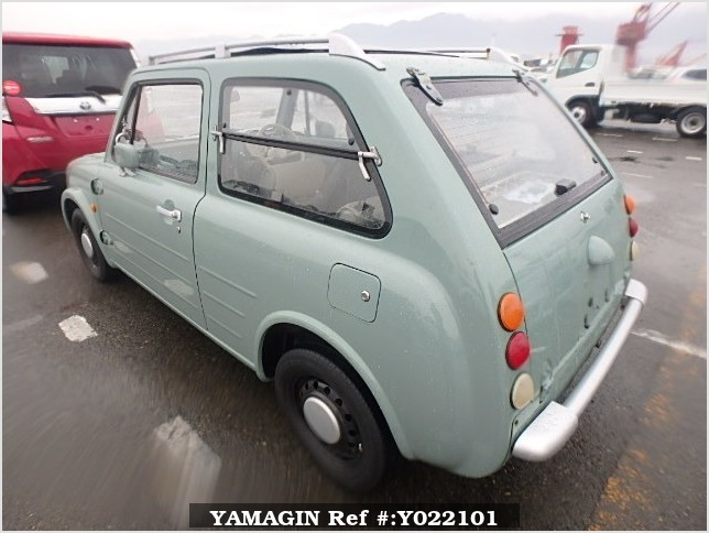 It is a picture of the olive nissan pao open top in 1989,Sub Photo 3 Stock No.Y022101