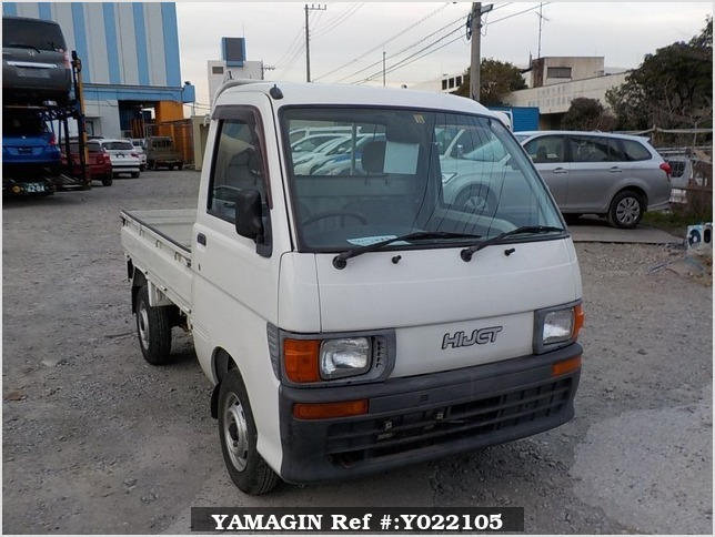 It is a picture of the white daihatsu hijet truck in 1998,Sub Photo 0 Stock No.Y022105