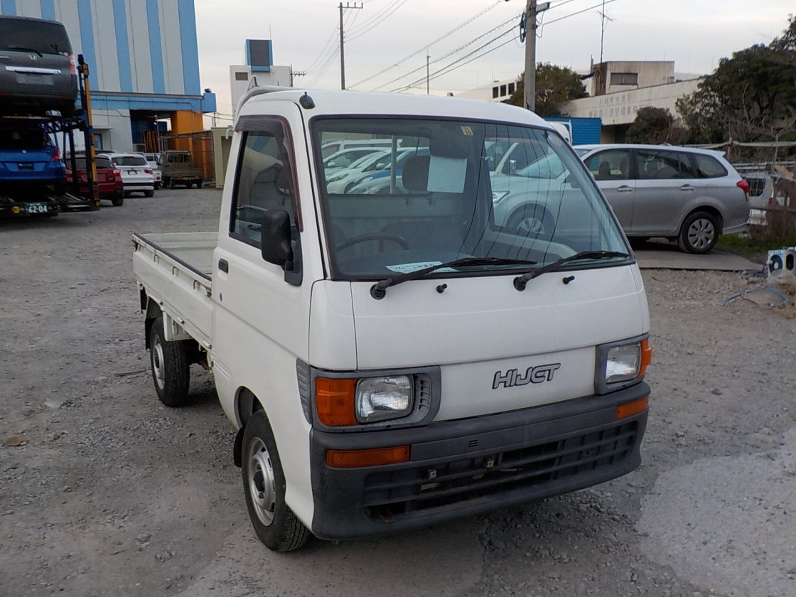 It is a picture of the white daihatsu hijet truck in 1998,First Photo Stock No.Y022105