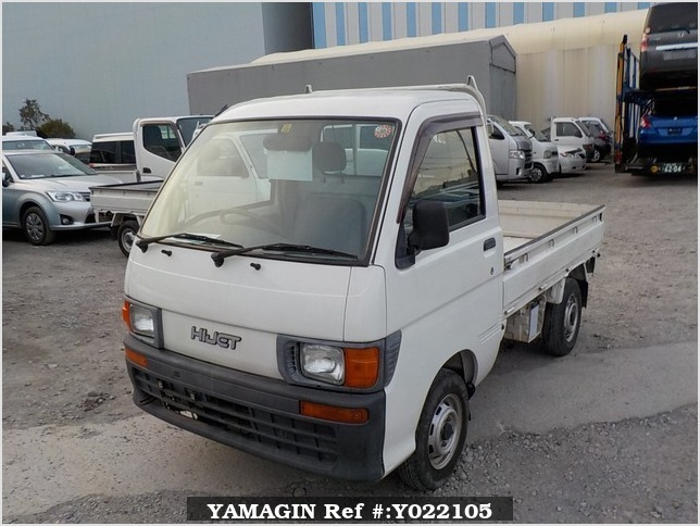 It is a picture of the white daihatsu hijet truck in 1998,Sub Photo 1 Stock No.Y022105